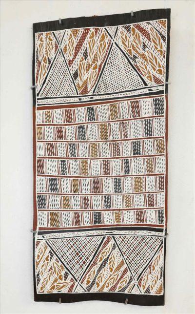 1163-21 Ganybu (Djapu fishtrap with grid design)