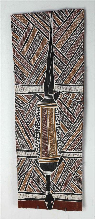 667-21 Ṉuwayak (decorative bark painting)